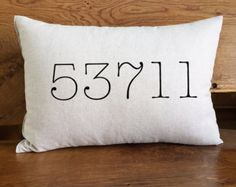 Personalized Zip Code Pillow Custom Zip Code City & by DolceHome