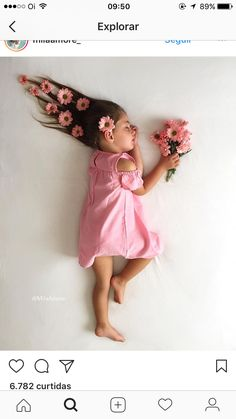 New Flowers In Hair Photoshoot Ideas Monthly Baby Photos, Baby Girl Photos, Cute Baby Pictures, Fashion Kids, Fashion Spring, Newborn Baby Photography, Children Photography, Sweets Photography, Kids Fashion Photography