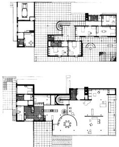 Tugendhat House, Brno, by Mies Van Der Rohe Ludwig Mies Van Der Rohe, Modern Architects, Famous Architects, Walter Gropius, Architecture Drawings, Architecture Plan, Mansion Plans, Vintage House Plans, Le Corbusier