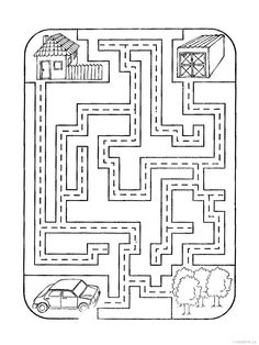 Pracovní listy dopravní prostředky | i-creative.cz - Kreativní online magazín a omalovánky k vytisknutí Fun Worksheets For Kids, Mazes For Kids, Maze Worksheet, Printable Mazes, Tracing Sheets, Cute Easy Drawings, Lets Play A Game, Grande Section, Kindergarten Math