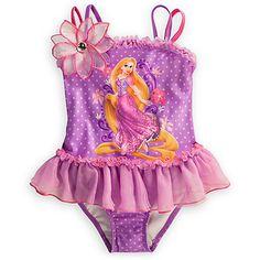 Rapunzel Deluxe Swimsuit for Girls | Swimwear | Disney Store