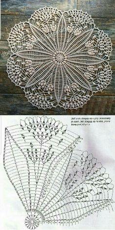 Crochet Mat, Crochet Mandala Pattern, Crochet Dollies, Crochet Circles, Thread Crochet, Crochet Stitches Chart, Free Crochet Doily Patterns, Crochet Doily Diagram, Crochet Bedspread Pattern