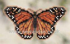Buy Monarch Butterfly Fridge Magnet Cross Stitch Kit Online at www.sewandso.co.uk