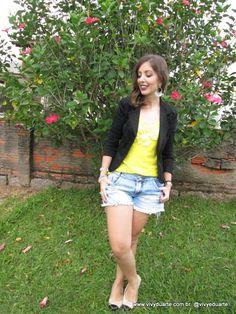 Vivy Duarte: Look do Dia: Sapatilha Bicolor