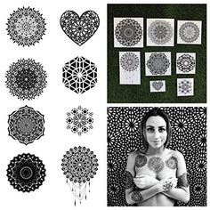 Tattify Assorted Mandala Temporary Tattoos, Includes 16 Tattoos, 2 of Each Design In The Ascension Collection, Waterproof and Sweat Resistant, Safe For All Ages and Skin Types, Easy To Apply ** You can find more details by visiting the image link. #BodyMakeup