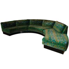 MILO BAUGHMAN  SOFA WITH JACK LENOR LARSEN FABRIC
