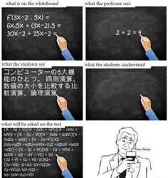 MATH :- What The Students See VS. What The Students Understand - Posted in Funny, Troll comics and LOL Images - LOL FUNS
