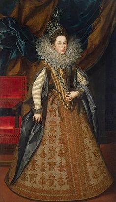 Frans Pourbus the younger, Portrait of Margaret of Savoy, Duchess of Mantua, 1608