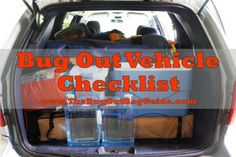 How To Make A Bug Out Vehicle Checklist