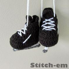 Hockey Skate Baby Booties