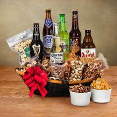 Definitivamente le encantará un regalo original, hecho de cervezas internacionales y botana. #RegalosOriginales #RegalosParaÉl
