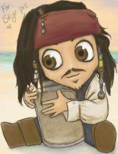 Baby Captain Jack Sparrow... how stinkin cute! :D