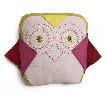 Peekaboo Yellow Owl Cushion