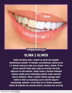 Wybiel zęby oliwą z oliwek. Healthy Beauty, Health And Beauty, Healthy Life, Beauty Care, Diy Beauty, Beauty Hacks, Home Spa, Organic Beauty, Better Life