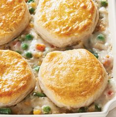 Chicken Pot Pie Casserole is the perfect weeknight one-dish meal. It doesn't take long to prepare and everyone loves it.