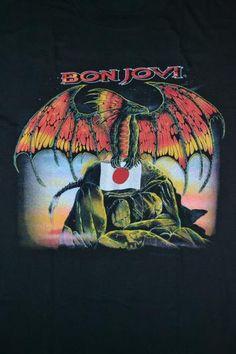 Vintage 90s BON JOVI Japan Tour Concert promo T-shirt