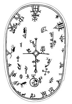 Shaman´s drum symbols in Scandinavia Art Et Architecture, Art Premier, Lappland, Asatru, Thinking Day, Norse Mythology, Art Plastique, Tribal Art, Ancient Art