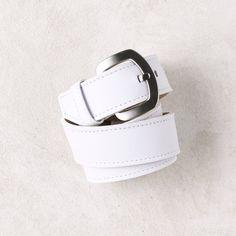 Jeans Belt in White | Carolina