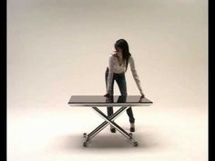 Tavolino trasformabile Magic by OZZIO DESIGN - transformable table, made in italy - YouTube