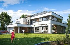 Projekt domu Willa Floryda 4 327,82 m2 - koszt budowy - EXTRADOM Storage Places, Modern House Design, Home Projects, House Plans, Pergola, Mansions, House Styles, Home Decor, Products