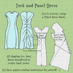 Tuck and Panel Dress - Studio Faro #PatternPuzzle