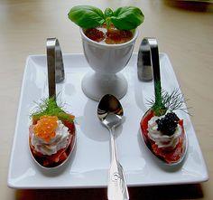 Lachs mit Meerrettichcreme und Garnitur (Rezept mit Bild)   Chefkoch.de