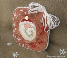 Such a cute Santa. St Nick -Sisters and best friends- pinkeep part5 by Hearty craft, via Flickr