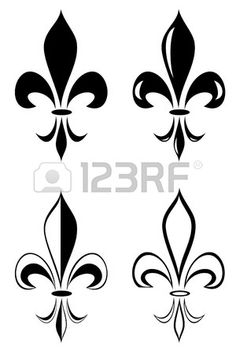 A Fleur de lys tatouage tribal ensemble Banque d'images …