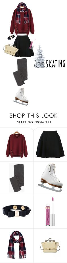 """So Cute: Ice Skating Style"" by dindydind on Polyvore featuring Avelon, Madewell, Riedell, Salvatore Ferragamo, Anastasia Beverly Hills and Forever 21"