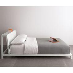 Bedroom design: Headboard ideas // alpine white queen bed in bedroom furniture Iron Furniture, Modern Bedroom Furniture, Furniture Bed Design, Contemporary Furniture, Modern Contemporary, Broyhill Furniture, King Beds, Queen Beds, Cama Industrial
