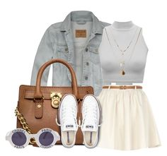 """3 / 19 / 14"" by queenbrittani ❤ liked on Polyvore featuring Hollister Co., Michael Kors, Converse, River Island, Chanel and Orelia"
