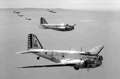 A formation of Douglas B-28 Bolo bombers. These were manufactured at Douglas Aircraft in Santa Monica.