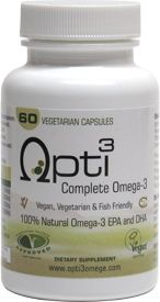 Opti3 Complete Omega-3 DHA/EPA Supplement – VeganEssentials Online Store