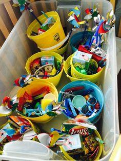 SpongeBob square pants party favor buckets