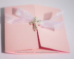 Baptism, Christening, First Holy Communion, or Confirmation custom invitations by Glitter & Pearl