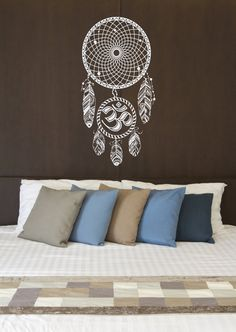 This listing is for Dream Catcher Wall Decals Amulets Feather Decal Night Symbol Vinyl Sticker Boho Bedding Home Decor Bedroom Bedroom Dorm  Whether you're shopping for your own interior or giving as a gift, wall vinyl decals by BestDecals are just what you're looking for!  This Vinyl Decal will be perfect addition to any interior including living rooms, bathrooms, bedrooms, offices.  HOW TO ORDER: Choose the color of your decal from our color chart shown in the second picture of this…