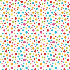 Bright coloured polka dots.  I can save the picture, but the link doesn't work.  (Kelly Marinho (kellkristy) - Minus.com)