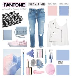 """""""PANTONE colors for spring 2016"""" by the-fashion-drawer ❤ liked on Polyvore featuring Butter London, Eos, Vans, Frame Denim, River Island, Clinique, By Terry, Clarins, L'Oréal Paris and Mineral Essence"""