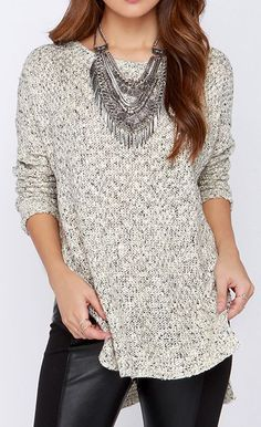 Splendid Weather Cream Sweater