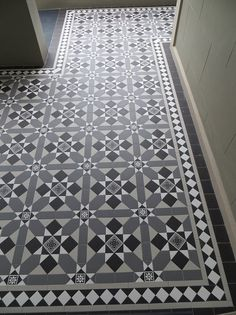 Tessellated floors are formed from tiles of varying size, shape and colour that fit together to produce a geometric repe. Floor Art, Colorful Tile Floor, Hallway Decorating, Tiles, Victorian Front Doors, Art Deco Tiles, Flooring, Victorian Tiles, Tiled Hallway