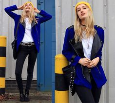 Get this look: http://lb.nu/look/7940742  More looks by Eva V: http://lb.nu/eviv  Items in this look:  Jacket, Bag, Jeans, Belt, Necklace, Selfmade Choker, Beanie   #edgy #grunge #street