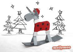 mollymoo.ie - Cardboard Reindeer Craft