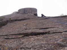 鉾岳クライミング、大長征の核心です。