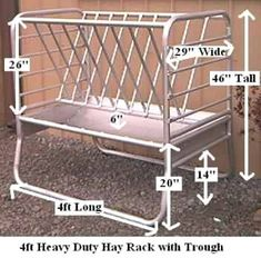 Item #GFHD4) 4' Heavy Duty Trough with Wire Hay Rack… homemade #goat cheese, homemade #goat feed, homemade goat soap, homemade goat treats, homemade goat food, homemade goat milk, homemade goat how to make #legging #shirts #ideas #popular #everything #videos #shop #animals #goat #sheep #dogs #cats #elephant #turtle #pets