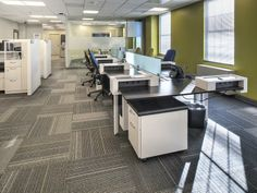 Carney Inc. Headquarters Alexandria, Virginia - Bench Workstations with a Mobile Ped or Caddy