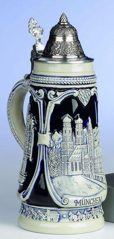Jarra de cerveza alemana de Munich 0,5 litros