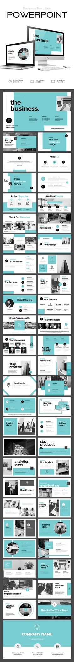 Business Powerpoint Template — PPT #presentation #statistics • Available here ➝ https://graphicriver.net/item/business-powerpoint-template/20845830?ref=pxcr