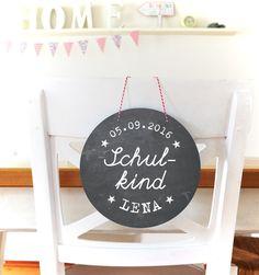 Schultüten - ★ Schulkind ★ Türschild mit Namen Einschulung - ein Designerstück von Lena-und-Max bei DaWanda