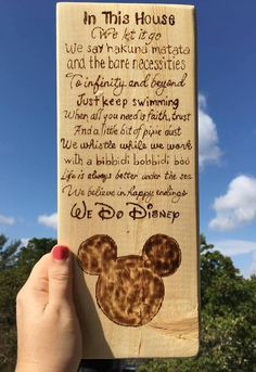 Delightful Wood Burned Disney Signs for Home