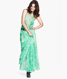 Product Detail | H&M USChiffon Dress $69.95 DESCRIPTION PREMIUM QUALITY. Long dress in airy, crinkled chiffon with a printed pattern. Double shoulder straps and side pockets. Can be worn with open or covered back. Unlined. DETAILS 100% polyester. Dry clean only Imported